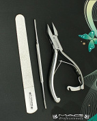 Macs Professional Heavy Duty Ingrown Toe Nail Nippers 13cm with Laock One Toe Nail File and One Diamond Sainded Nail File Perfect Tools for Nail Care Made of High Grade Surgical Stainless Steel Itrm # Macs-0773
