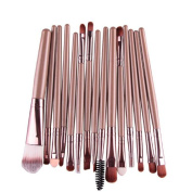 Makeup Brush,Canserin 15 pcs/Sets Eye Shadow Foundation Eyebrow Lip Brush Makeup Brushes Tool