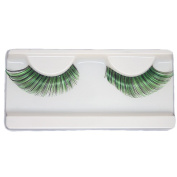 EMILYSTORES Green Fortune Teller Costume Halloween Eye Lashes For Party Looking1 Pairs