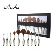 10pcs Professional Oval Brush Set , Aoohe Multipurpose Toothbrush Makeup Brushes Set Super Nice