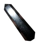 Jet Genuine Black Tourmaline Obelisk Tower Jumbo 6 Facet Aura Rock Crystal Natural Polished
