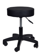 TMS Adjustable Black Tattoo Salon Stool Hydraulic Rolling Chair Facial Massage Spa