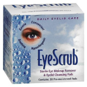 Eye Scrub Sterile Eye Makeup Remover & Eyelid Cleansing Pads 30 ea by Novartis Ophthalmics, Inc.