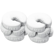 Master Massage 100% Cotton Fitted Flannel Face Pillow/Cushion Covers, Off White