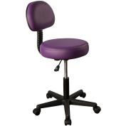 Mt Massage Pneumatic Rolling Massage Stool with Backrest, Purple