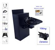 TILTING CERAMIC Shampoo Bowl Floor Cabinet w/ Storage 07-BC42