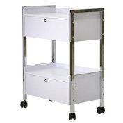 Lockable Two Drawer Cart Trolly