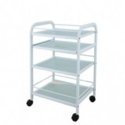 USA Salon and Spa Extend Beauty Trolley With 4 Tier Glass USA-1015