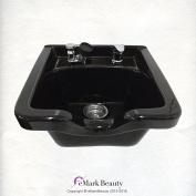 Black Square CERAMIC Wall Mounted Beauty Salon Shampoo Bowl Plumbing Parts Kit Included TLC-B41W