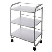Spa Wooden Rolling Cart/ Trolley Medical/Dental Three Wide Shelves 60cm