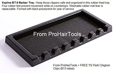 "Kayline ""NEW"" BT-8 Barber Tray, Salon Clipper Organiser + Free YS Park Chignon Clips ($13 value) from ProHairTools"