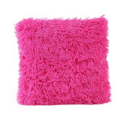 Pillow Cases,Dirance(TM) Home Decor Plush 4620cm Sofa Pillow Case Waist Throw Cushion Solid Colour Cover (Hot Pink)