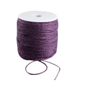 Pandahall 1 Roll(100m, about 100 Yards) Purple Coloured Jute twine Jute String for Jewellery Making Craft Project, 2mm