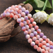 Grade A Natural Multi Tones Red White Purple Jade Beads 6mm 8mm 10mm 12mm Smooth Polished Round 15 Inch Strand JA58