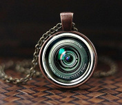Camera Lenses Pendant, Photography Jewellery, Gift For Photographer, Camera Pendant, Camera Lens Necklace, mens necklace, NOT REAL camera