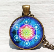 Metatron's Cube pendant, Sacred geometry jewellery, Geometric necklace, Sacred geometry necklace, Jewellery for men, necklace for men