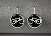 Bicycle earrings, bicycle jewellery, bicycle accessories