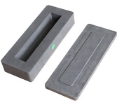 1040ml or 1 kilo gold bar casting graphite ingot mould