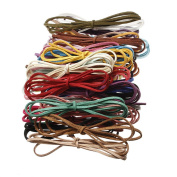10 Pcs Multicolor 3mm Faux Leather Cord Suede Lace 100cm Long DIY Art Craft Bracelets Necklace Making Cord String Rope