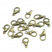 Lautechco 1000 Pcs 12mm Small Lobster Clasp Hook Jewellery Accessory