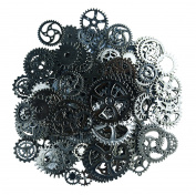 Aokbean 150 Gramme Assorted Vintage Bronze Metal Steampunk Jewellery Making Charms Cog Watch Wheel