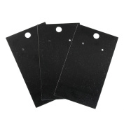 100 Black Jewellery Earring Display Cards, Blank Paper
