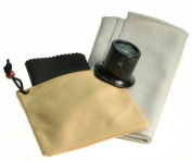 Bergeon 4x Watchmakers Inspection Jewellers Loupe Magnifier & Pouch & 2 Horosafe Polish cloths