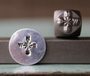 Brand New Supply Guy 6mm Compass Metal Punch Design Stamp CH-127