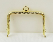 Golden Embossed Purse Frame - Rectangle Bead - 11cm / 4.3inch