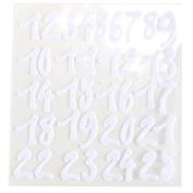 CraftbuddyUS 25 x Stick on NUMBERS White Felt Self Adhesive 1 2 3...............25