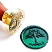 Vooseyhome The Tree of Life Wax Seal Stamp with Rosewood Handle