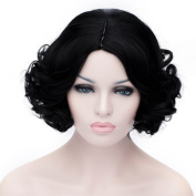 "Women's Short Curly Cosplay Wig Snow White Princess Style Adult Cosplay Costume Wig 12"" 30CM"