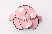 Classical camellia Accessories Acrylic Rhinestone Hair Barrette hair clips for women with flowers, Pink