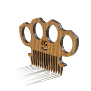 Beard Gains Beard Comb – Wooden - Knuckle Duster
