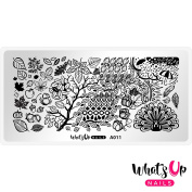 Whats Up Nails - A011 Leaves Are Fall-ing Stamping Plate For Stamped Nail Art Design