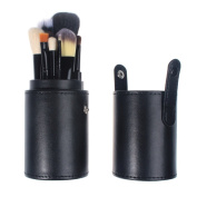 So Beauty 12pcs Professional Cosmetic Black Makeup Brush Set With Roll Bag Case