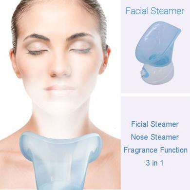 AnHua®Facial Face Thermal Spa Steamer Pores Steam Skin Renewal Sauna Skin Care (Blue)
