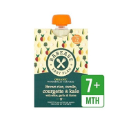 Babease Organic Brown Rice, Swede, Courgette & Kale, Onion, Garlic & Thyme 130g - Pack of 4