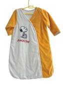 Newborn Baby Sleeping Bag 100% Cotton Sleep Bag Sack Baby Clothes Sleepwear Long Sleeve, Orange