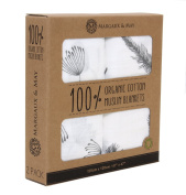 Grey Swaddle Blankets by Margaux & May - GOTS Certified Organic Cotton