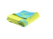 Giraffe - Reversible cotton Baby Blanket by Pink Lemonade