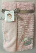 Blankets & Beyond Super Soft Pink Baby Blanket with Bird Appliques