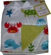 Kimberly Grant baby blanket - Velboa - Double - Sea Life - Crab - whale