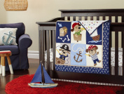 New 7pcs Baby Boy Caribbean Pirates Crib Bedding Set