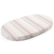 Stokke Sleepi Fitted Sheet, Coral Straw