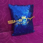 ShinyBeauty Sequin Pillow Cover-30cm x 30cm ,Sequin Pillow Case,Sequin Cushion Covers,Throw Pillow Case-RoyalBlue