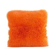 SMTSMT Pillow Case Sofa Waist Throw Cushion Cover Home Decor-41cm x 41cm -Orange