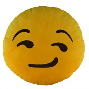 Cute & Amusing Emoji Smiley Emoticon Cushion Pillow Stuffed Plush Toy Soft Doll Poop Emoji Face Yellow Round Pillow Home Living Room Decoration Pillows Baby Children Adult Plush Toys