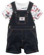 Carter's Baby Boys Fire Engine Tee and Shortalls Set