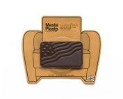 MastaPlasta, Leather Repair Patch, First-aid for Sofas, Car Seats, Handbags, Jackets, etc. Dark Brown Colour, Flag 10cm by 6.1cm , Designs Vary